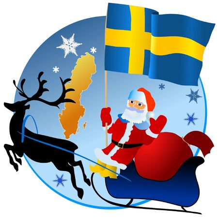 Merry Christmas, Sweden! Stock Vector - 11934386