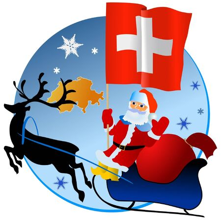 Merry Christmas, Switzerland! Stock Vector - 11934383