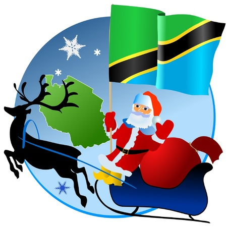 Merry Christmas, Tanzania! Stock Vector - 11934375