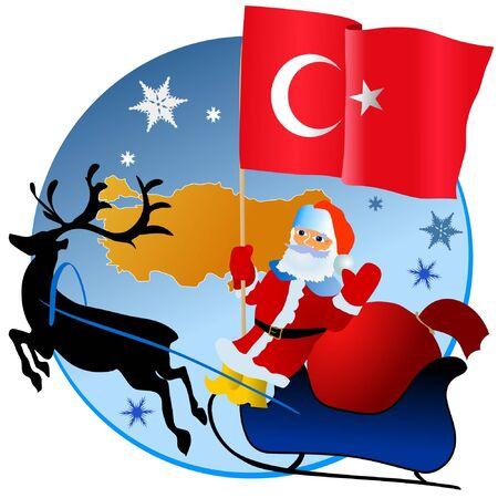 Merry Christmas, Turkey! Stock Vector - 11934380