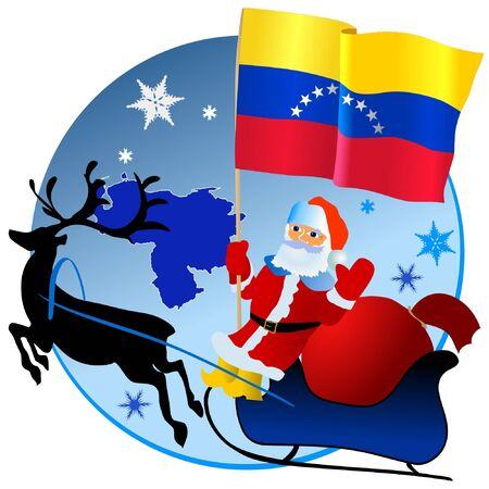 Merry Christmas, Venezuela! Vector