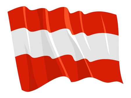 Political waving flag of Austria