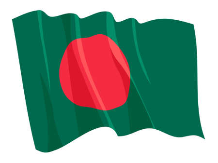 Political waving flag of Bangladesh Vector
