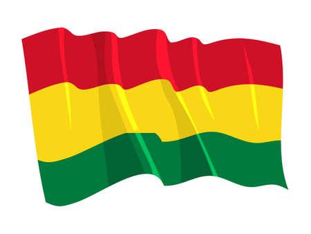 Political waving flag of Bolivia Vector