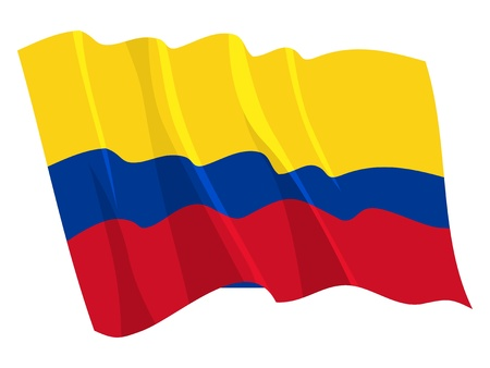 colombia: Political waving flag of Colombia