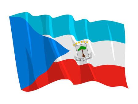 equatorial: Political waving flag of Equatorial Guinea