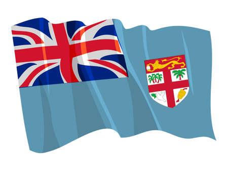 fiji: Political waving flag of Fiji