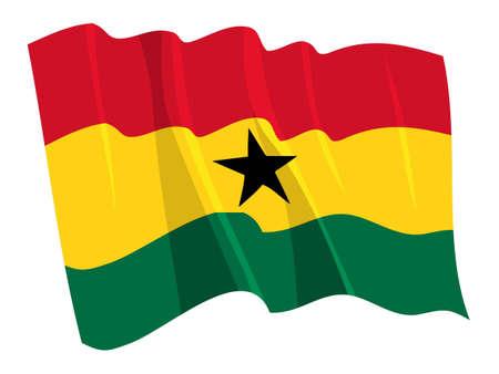 ghana: Drapeau politique du Ghana Illustration