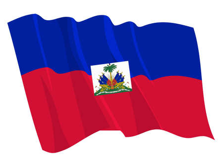 Political waving flag of Haiti Stock Vector - 12422147