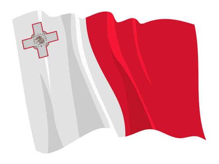 malta: Politieke zwaaien vlag van Malta