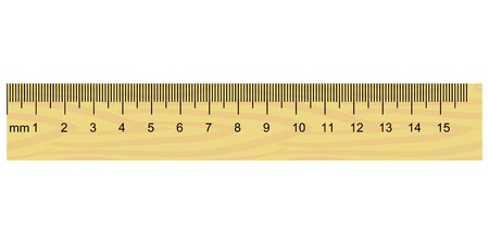 yards: Illustration of wooden ruler Illustration