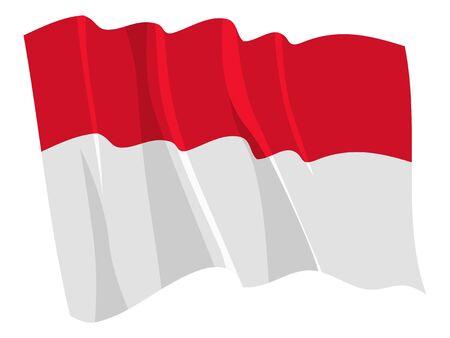 Political waving flag of Monaco Stock Vector - 12495623