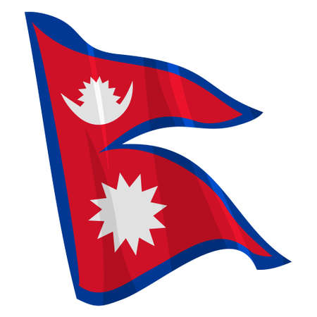 Political waving flag of Nepal