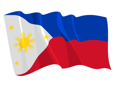 philippines: Political waving flag of Philippines