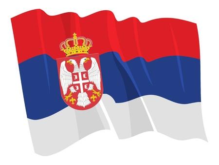 serbia flag: Political waving flag of Serbia