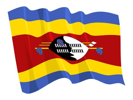 swaziland: Political waving flag of Swaziland Illustration