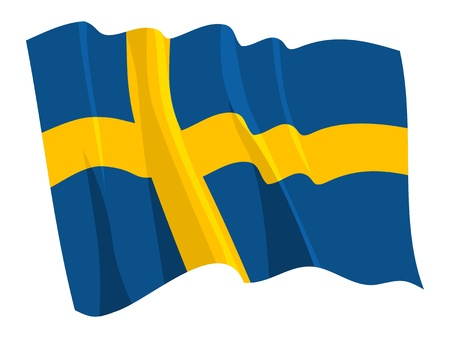 sweden flag: Political waving flag of Sweden Illustration