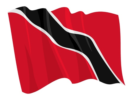 national flag trinidad and tobago: Political waving flag of Trinidad and Tobago Illustration