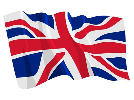Political waving flag of United Kingdom