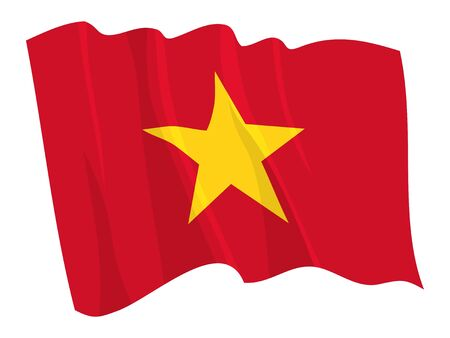 Political waving flag of Vietnam Vector