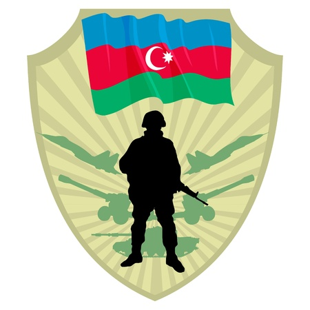 Army of Azerbaijan Stock Vector - 13322659