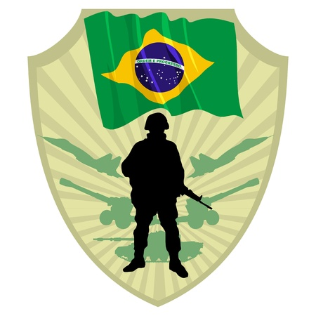 Army of Brazil Stock Vector - 13454297