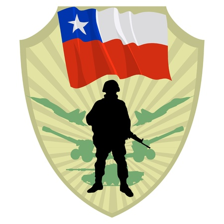 Army of Chile Stock Vector - 13454299
