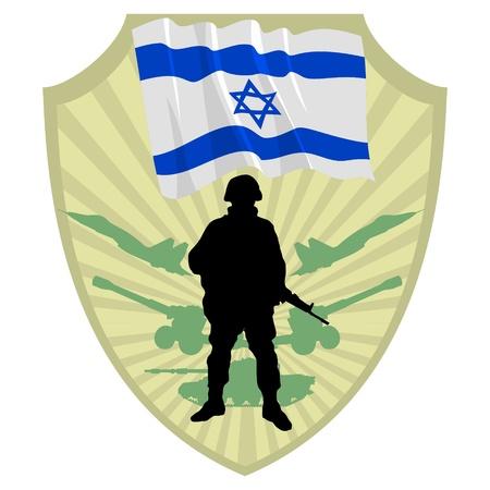 israel people: Army of Israel Illustration