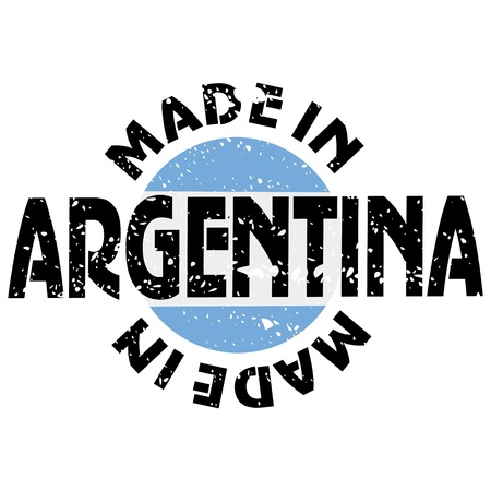argentina flag: vector label Made in Argentina
