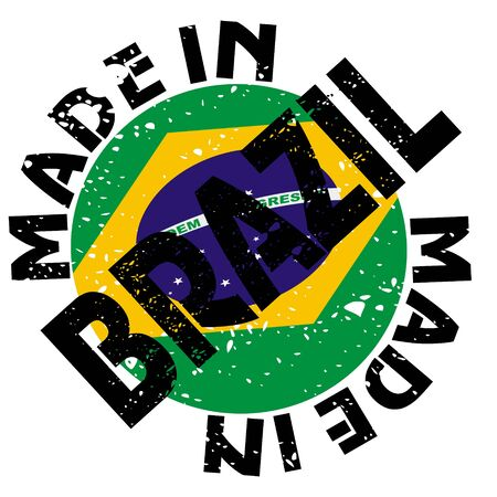vector label Made in Brazil Stock Vector - 13611753