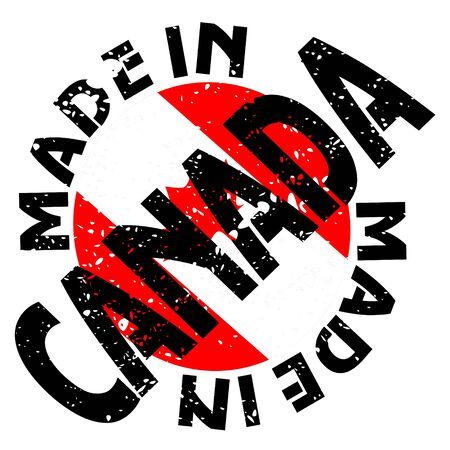 label Made in Canada Vector
