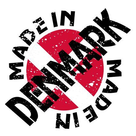 vector label Made in Denmark
