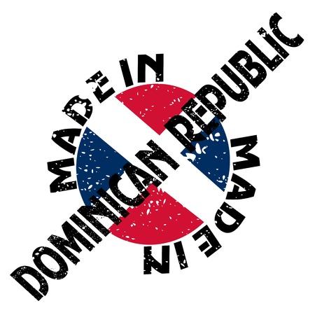 republic of dominican: label Made in Dominican Republic