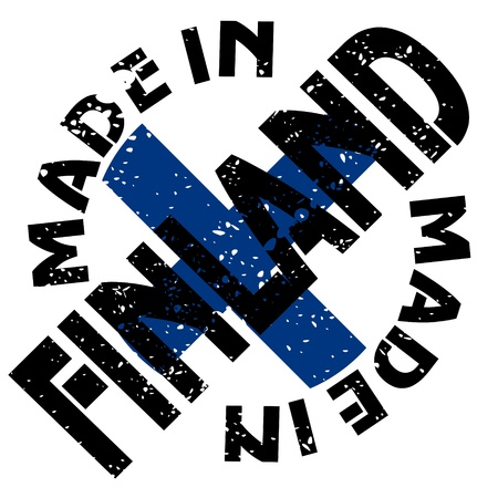 made in finland: vector label Made in Finland