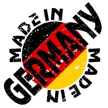 bandera alemania: la etiqueta Hecho en Alemania Vectores