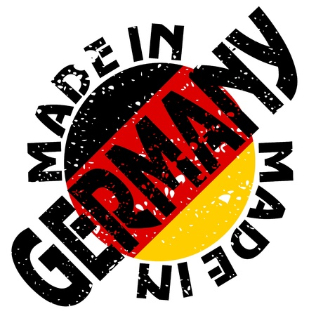 label Made in Germany Vector