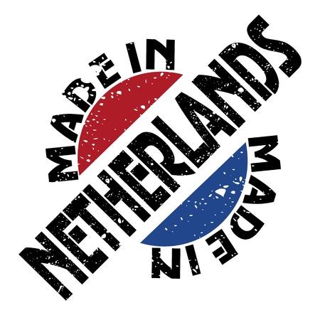 made in netherlands: label Made in Netherlands Illustration