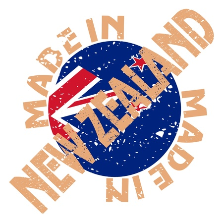 label Made in New Zealand Vector
