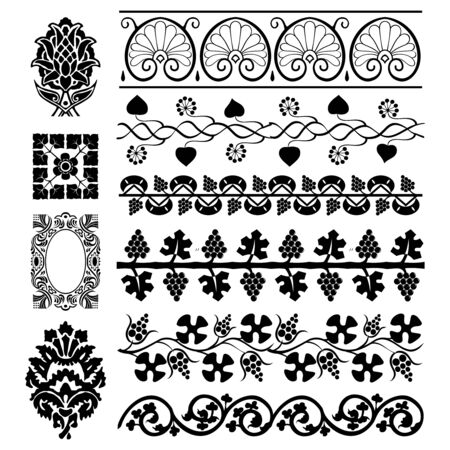 The set of the different design elements Stock Vector - 14535284