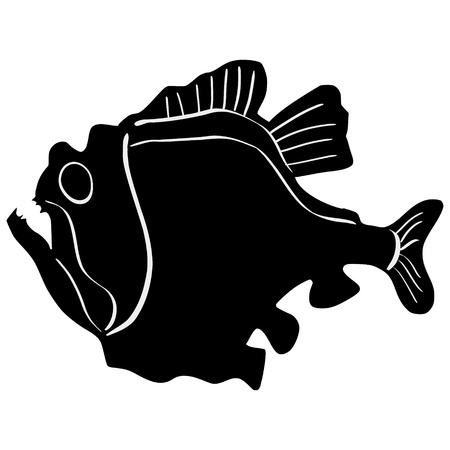 silhouette of the hatchetfish on white background Stock Vector - 15786569