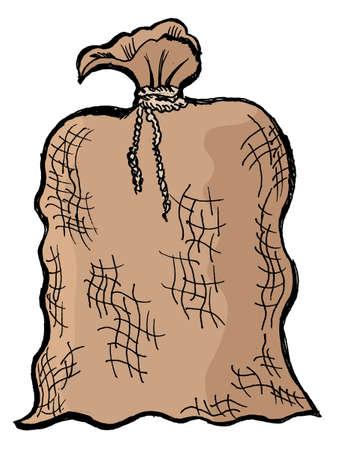toy sack: Un viejo saco del fondo blanco