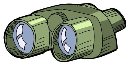 Illustration of the binoculars on white background Stock Vector - 16188610