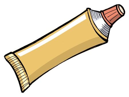 Illustration of tube of toothpaste and other paste Vector
