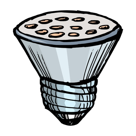 Illustration of a led lamp on white background Vector