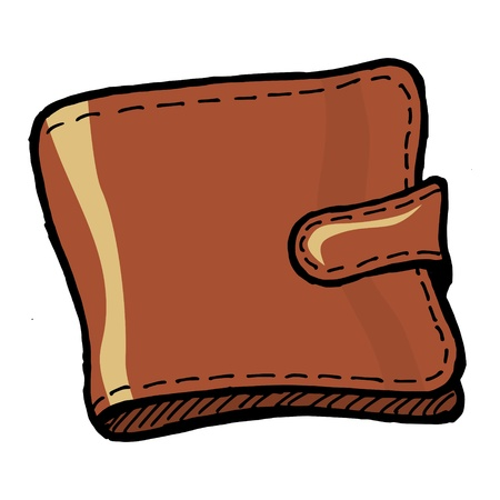 Illustration of a wallet on white background Vector