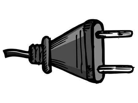 Illustration of a socket plug on white background Vector