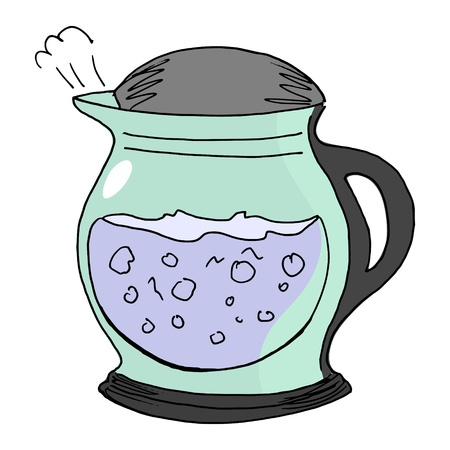 hand drawn of an electric kettle on white Stock Vector - 16605059