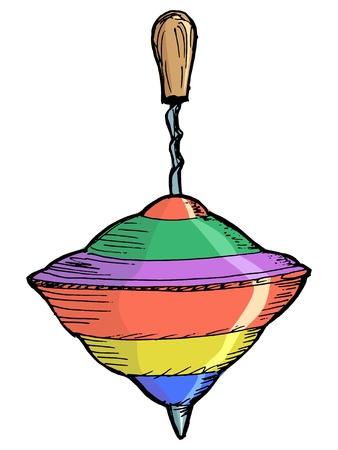 hand drawn, vector, sketch illustration of whirligig Stock Vector - 17080854