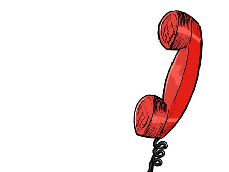 hand drawn, sketch, cartoon illustration of old phone Stock Vector - 17346794