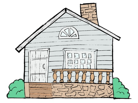hand drawn, sketch image of house Stock Vector - 17372368